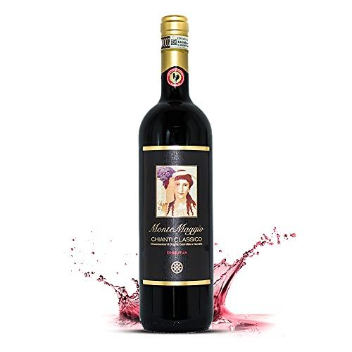Chianti Classico Riserva di Montemaggio - Vino Tinto Ecológico Fino Orgánico de Italia - DOCG Toscana - Gallo Nero - Sangiovese/Merlot - Fattoria di Montemaggio - 0.75L - 1 Botella