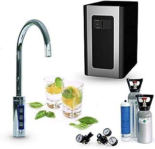 SPRUDELUX® Blue Diamond Système d'eau potable sous table avec robinet supplémentaire 3 voies + bouteille de CO2 6 kg Machi...