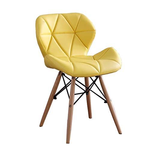 WJSW Barhocker Klappstuhl, Kreative Büro Esstisch Besprechungsraum Rückenlehne Computer Stuhl (gelb)