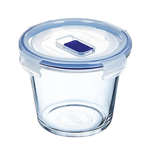 Luminarc Pure Box Active - Recipiente hermético de vidrio, redondo, tamaño 0,84 litros