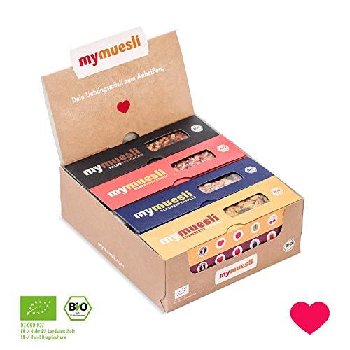Müsliriegel Probierpaket von mymuesli – 12 x 35g mymuesli-Riegel – 6 verschiedene Sorten – Hergestellt in Deutschland aus 100% Bio-Zutaten