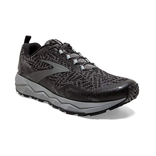 Brooks Mens Divide Running Shoe - Black/Grey - D - 9.5
