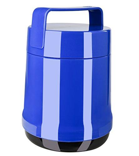 Emsa 514533 Isolier-Speisegefäß, 1 Liter, Mit 2 Speiseeinsätzen, 100% dicht, Blau, Rocket