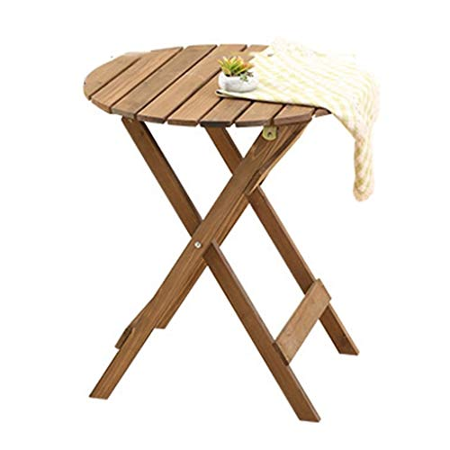Mesa retro de mesa plegable de madera Kiosco, salón de té, café, balcón, ocio, mesa de lectura para exterior e interior, mesa de negociación 62*69CM a