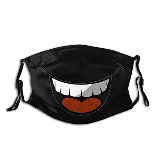 Mundschutz Mund lachender Cartoon personalisierte Mundhülle mit Filter Unisex wiederverwendbarer Gesichtsschal