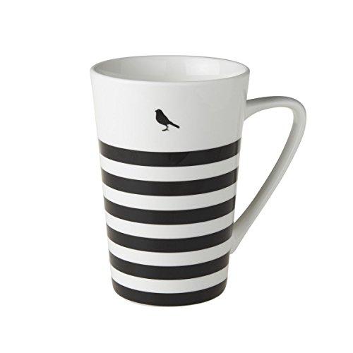 Jumbotasse Becher XXL Sprüchetasse 400 ml aus Porzellan Trinkbecher Smoothie Becher Geschenk Büro Tasse für Kaffee Teetasse Cappuccino Kaffeebecher Jumbo-Tasse Riesentasse (Streifen)