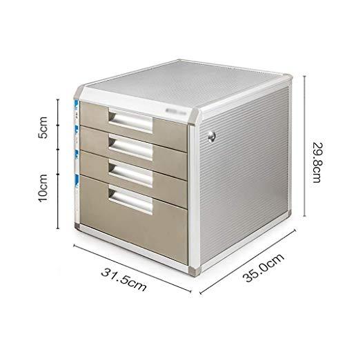 Archivador plano archivadores portátil Tidy Periódico Bastidores de Aluminio de aleación de Material de cajón Gabinete de Almacenamiento de Archivos Box Office Supplies aleación de Aluminio