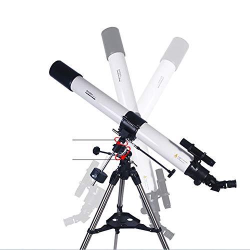 ZXF Los estudiantes de alta definición espacio se vea Lentes Telescopio astronómico profesional de la visión nocturna Mirando las estrellas del espacio profundo 90EQ entrada Pantalla de temperatura se