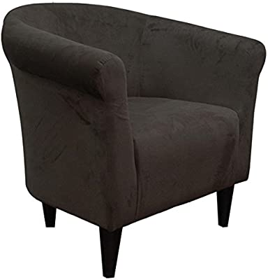 Amazon Com Tub Accent Chair Berry Red Microfiber Upholstery Padded Seat Living