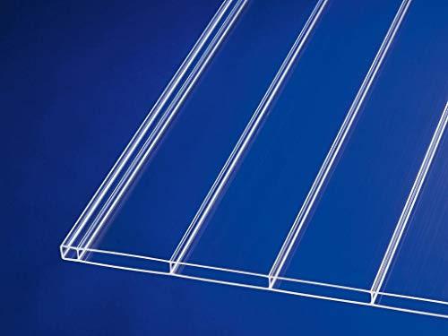 Acryl-Stegplatten Plexiglas® 16mm ALLTOP uv-lichtdurchlässig, klar, 64mm Stegabstand, No Drop Beschichtung (B x T) 980mm x 2000mm