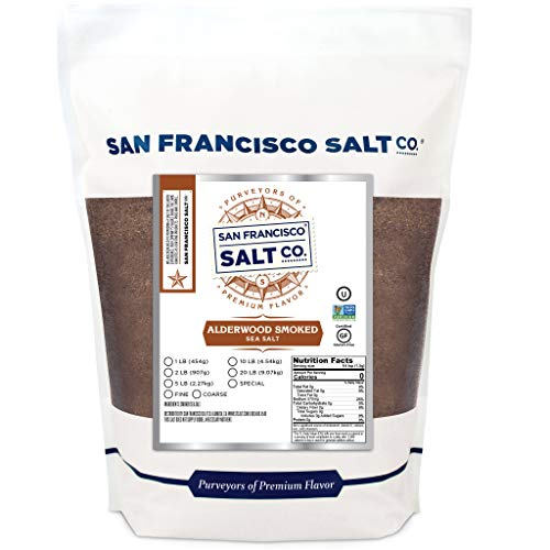 Alderwood Smoked Sea Salt - 2 lb. Bag Fine Grain by San Francisco Salt Company