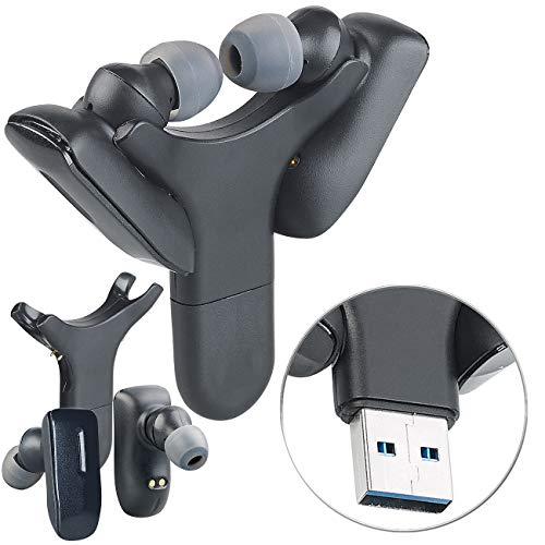 auvisio Ear Phone: True Wireless In-Ear-Headset mit USB-Ladehalterung und Bluetooth 4.1 (kabellos Kopfhörer)
