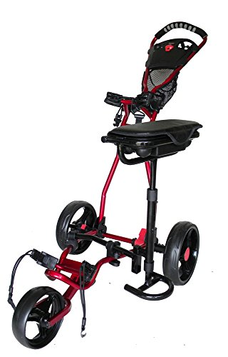 Spider 3 Wheel Golf Cart with Seat (Red)