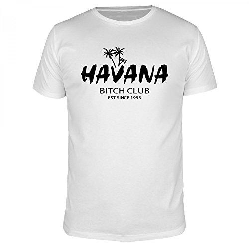 FABTEE - Havana Bitch Club - Herren Organic T-Shirt, Größen S-5XL, Größe:XL, Farbe:Weiß