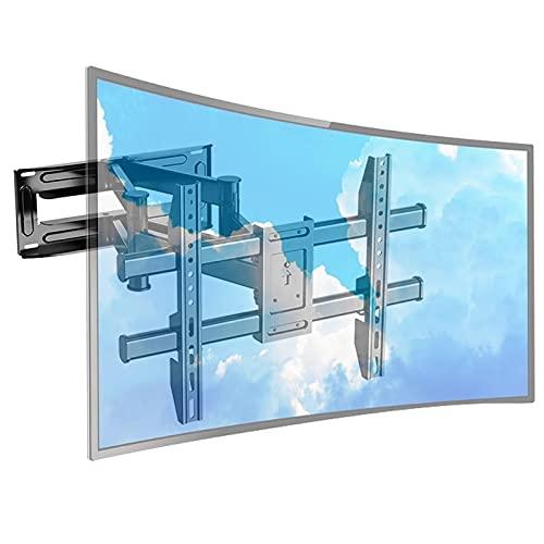 soporte tv pared brazo monitor television Soporte de pared para monitor curvo Smart TV extragrande, Soporte de acero negro resistente para RV interior al aire libre, 65 70 75 80 85 90 95100 pulgadas,