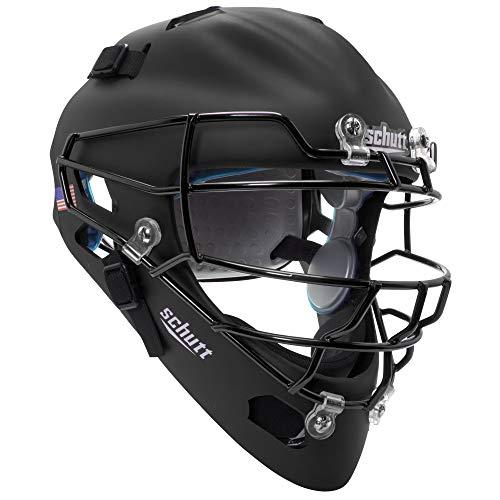 Schutt Sports Air MAXX Hockey-Style Catcher's Helmet with Steel Faceguard Matte Black