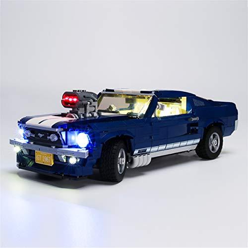 IluminacióN Luces Led Para Ford Mustang - Compatible Con El Modelo De Bloques De ConstruccióN Lego 10265 (Juego De Lego No Incluido)