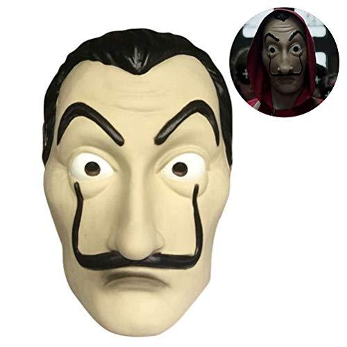 Kylewo Salvador Dali La Casa De Papel Kostuum Halloween Masker Latex Gezichtsmasker