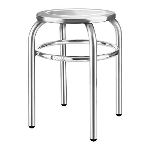 Royal Catering - Hocker Edelstahlhocker (29 cm Sitzfläche, 1,6 kg, 43 x 37 cm, hygienisch und modern) Silber