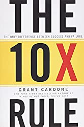 Grant Cardone the 10x rule teaches you if you want 10x results you have to put in 10x efforts.