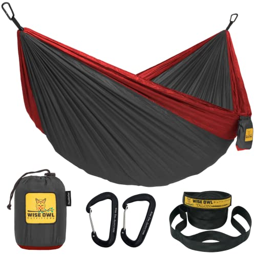 Wise Owl Outfitters Hammock for Camping Single & Double Hammocks Gear...