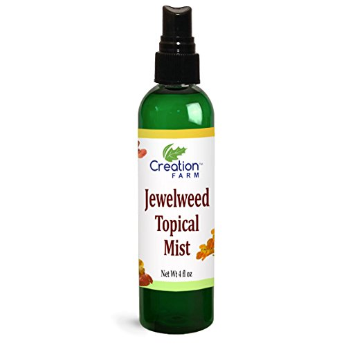 Creation Farm Jewelweed Spray 4 oz - Poison Ivy Itch Relief, Remedy Soothes Itchy Poison Oak, Allergy Rash, Bug Bites, Bee Stings, Para Prurito, Picaduras de Insectos, Hiedra Venenosa