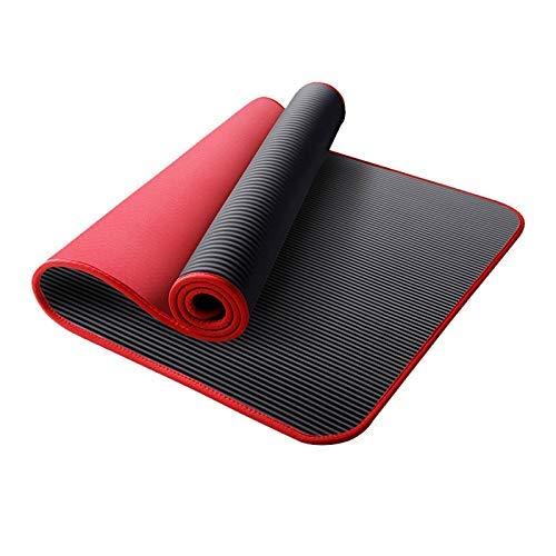 8bayfa Antiscivolo Yoga Mat ampliato addensata Sport Fitness Sit-up Tappetino da addestramento Adatto for Gli Uomini delle Donne Principianti e.1211 (Color : Red, Size : 15mm)