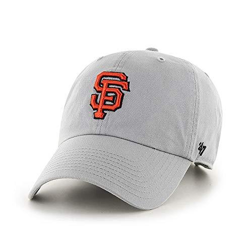 '47 Brand San Francisco SF Giants Clean Up Adjustable Hat - MLB Baseball Cap - Storm Gray/Orange - Unisex, Adult