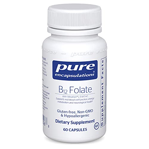 Pure Encapsulations B12 Folate   Energy Supplement to Support Emotional Wellness, Nerves, and Cognitive Health*   60 Capsules