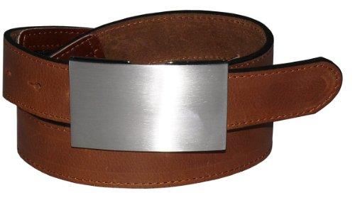 Tresorgürtel mit Kartenfach + Reißverschluß, Bundweite:95, Farben:braun