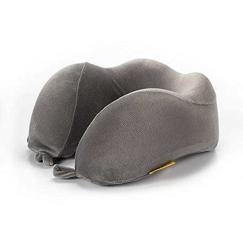 Travel Blue Nackenkissen in Grau zum Reisen, ergonomischer, bequemer Memory-Schaumstoff, Einheitsgröße - EIN Flauschiges Reisezubehör für den perfekt Schlaf auf der Reise