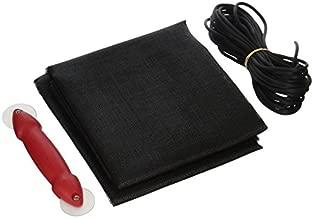 "Make-2-Fit P 7541 Screen Door Repair Kit with Rolling Tool – Replace Screen on Windows or Patio Doors, 48"" x 84"" Charcoal Fiberglass Screen Cloth"