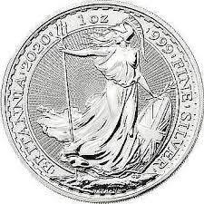 Moneda de plata Britannia 2020, 1 onza