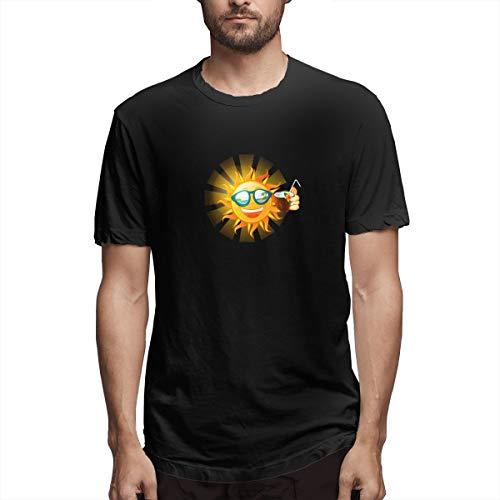 Hemd Trinken niedlichen Cartoon Sonne Trinken Kokosmilch Aedb Herren Baumwolle lässig T-Shirt