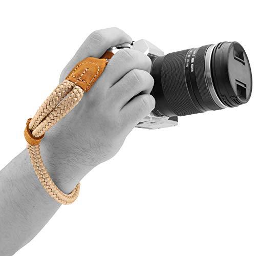 MegaGear SLR, DSLR Camera Cotton Wrist Strap (Camel, Small - 23cm/9inc) (MG1786)