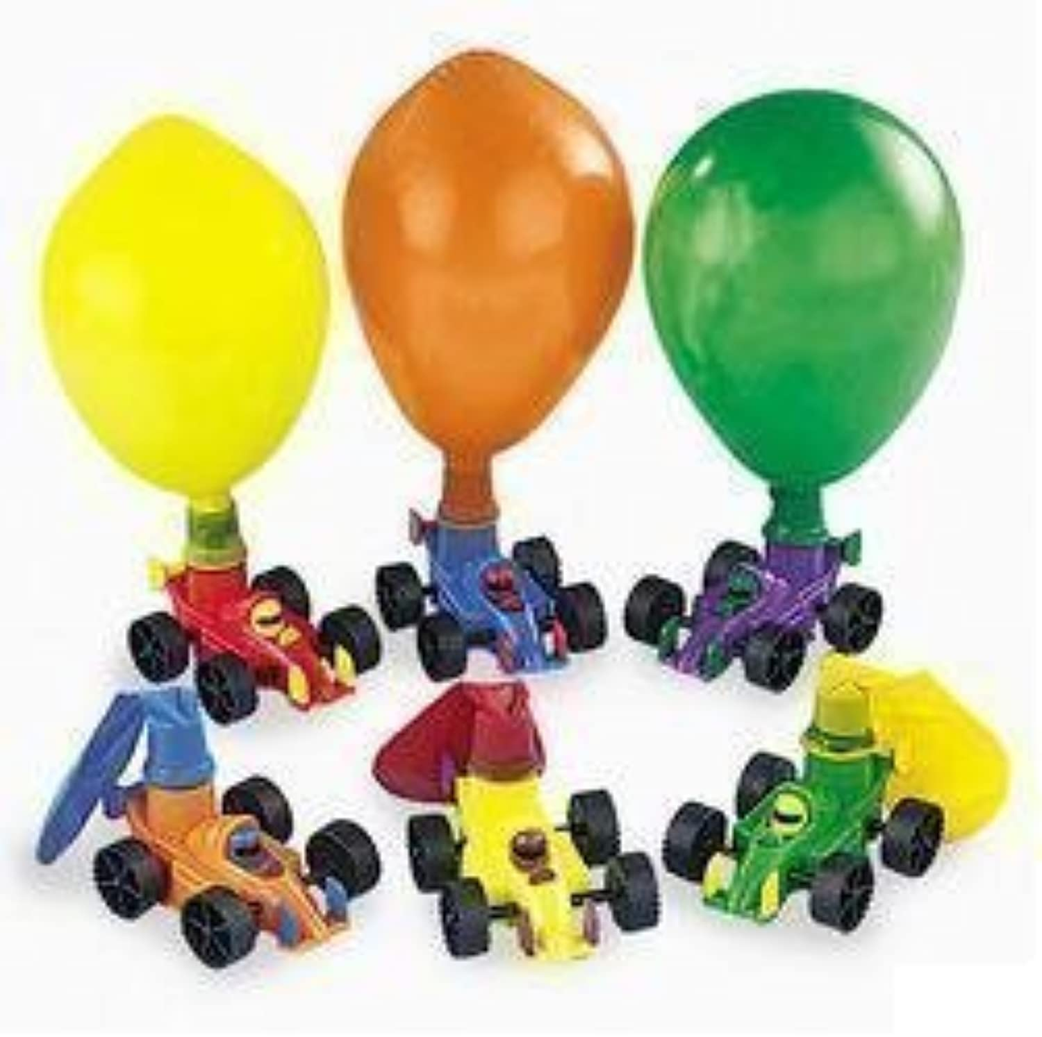 Birthday Party Favors Supplies Classic Balloon Racers (2-Pack of 12)