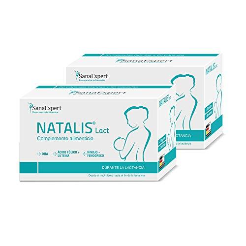 SanaExpert Natalis Lact Pack 2x, 90 cápsulas, preparación combinada para la lactancia después del embarazo con vitaminas DHA Ácido fólico, Luteína, Hinojo, Fenogreco.(2)