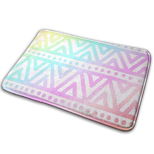 DJNGN Alfombra de baño Alfombrillas de baño de Espuma viscoelástica con arcoíris en Colores Pastel, Antideslizantes, Suaves y absorbentes, alfombras de Goma, para Pisos de baño de Cocina, 15.7 'x 23.