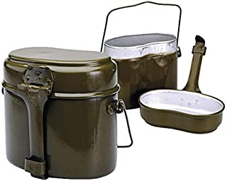 Books.And.More Original Soviet Russian Army Soldier Mess & Griddle Kit Canteen Pot Army Soldier Lunch Box