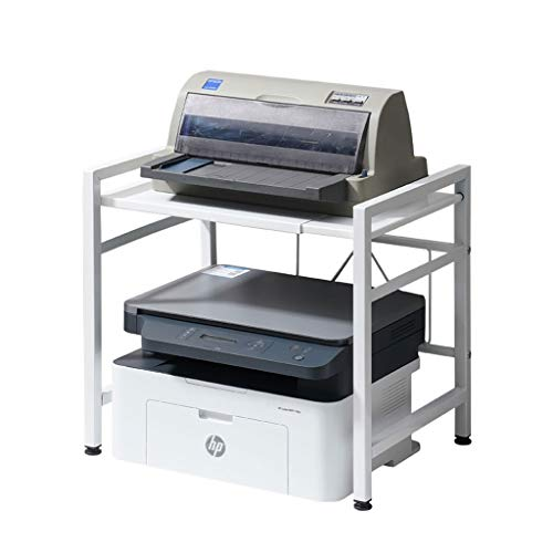 Retractable And Adjustable Printer Shelf Multifunction Printer Photocopier Scanner Shelf With Non-slip Mat (Color : White, Size : 60 * 36 * 40cm)