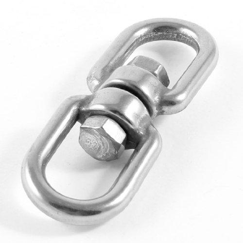 """sourcingmap® Anilla doble anillo giratorio Barco atraque Marina 5mm 1/5"""" de acero inoxidable"""