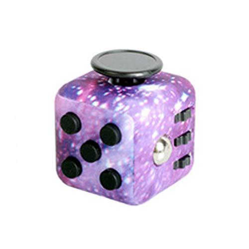 Elibeauty Fidget Cube Toy, Anti-Angst Speelgoed Kinderbureau Volwassen Stress Relief Cube Anti-Angst En Anti-Stress Fidget Speelgoed Decompressie Kubus Geschikt voor kinderen, tieners en volwassenen (paars)