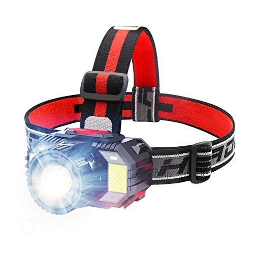 ヘッドライト 充電式 LEDヘッドライト ヘッドランプ 「ズーム・ワイドモード/センサー感知&4つ通常モード/1000ルーメン高輝度」 釣り 登山 キャンプ 防水 へっとライト