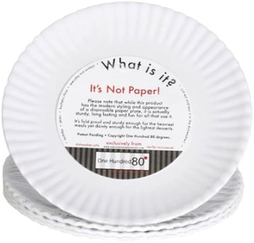 What Is It LARGER SIZE 11 Inch Reusable White Dinner Plate Melamine Set Of 4