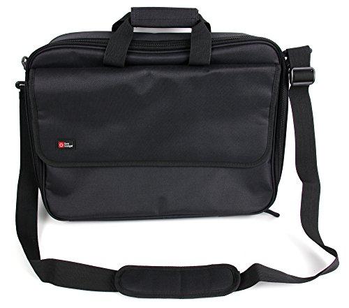 DURAGADGET Black Laptop Briefcase w/Multiple Compartments - Compatible with Asus ROG Zephyrus S GX502GV | ROG Strix G531GT & ZENBOOK PRO DUO (UX581)