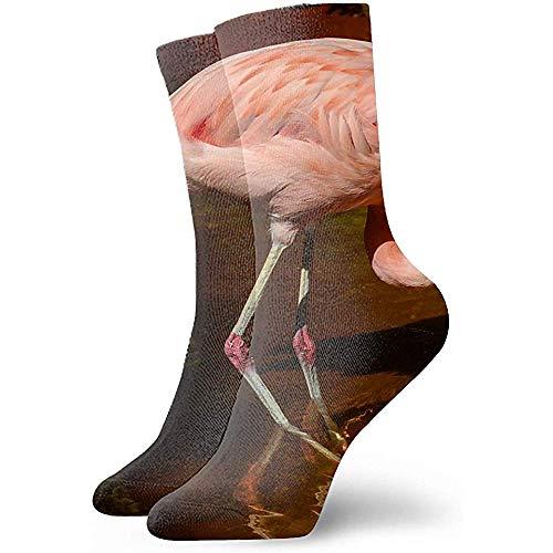 Gre Rry Digital singende Flamingos-Kunst-athletische Unisexklassiker-Socken-Sport-Socke