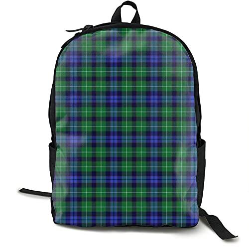 Allures Abercrombie Tartan Casual School Bag Travel Backpack Unisex College Computer Mochila, Casual School Bag