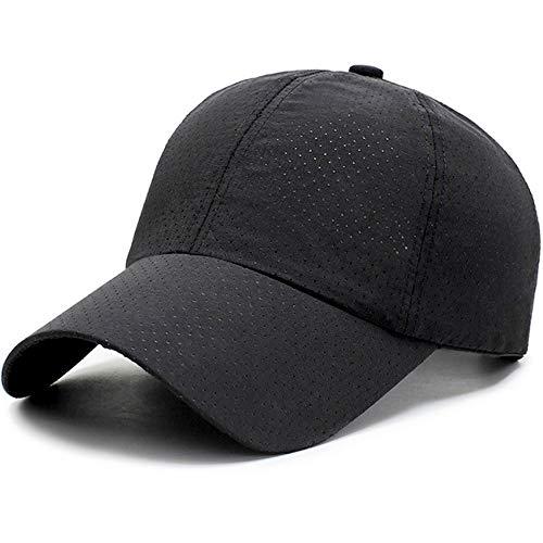 (京都 おかげさまで) 大きいサイズ 62cm 軽量 メッシュ 野球帽 スポーツ キャップ 男女兼用 (ブラック)