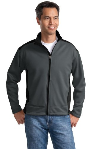 Port Authority® Two-Tone Soft Shell Jacket. J794 Graphite/Black 3XL