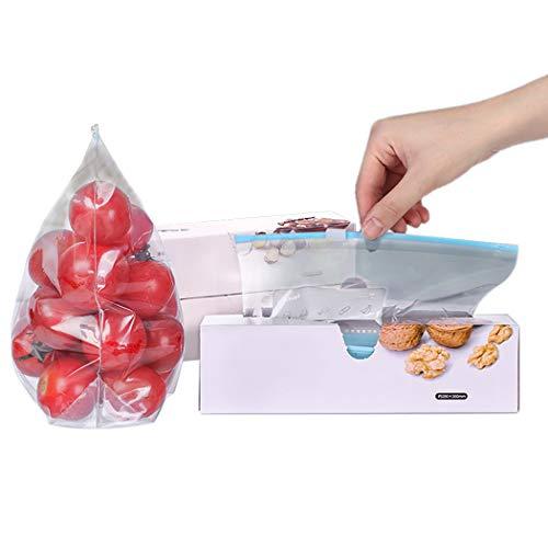 COSYOO 45 Unidades de Bolsas de Almacenamiento de Alimentos de Nevera Reutilizables con Cremallera Bolsa de Preservación para El Hogar Multifuncional Bolsa de Comida de Cocina